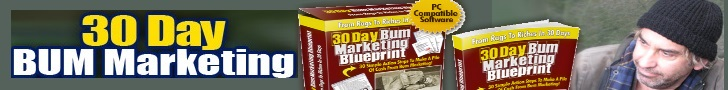 Banner: 30 Day Bum Marketing Blueprint